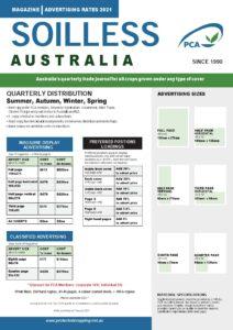 Advertising Rates Soilless Australia